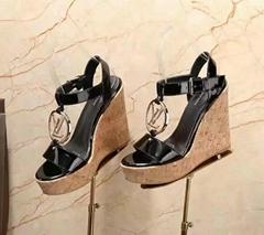 Wedge Sandals Shoes    metal Platform sandal