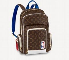 Louis Vuitton LVXNBA NEW BACKPACK LV NBA logo canvas classic backpacks