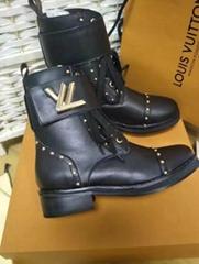 Louis Vuitton ROCKABILY RANGER boots LV Women Leather stud Boots