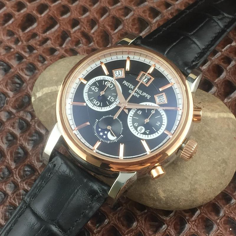 Patek Philippe Annual Calendar Chronograph Moon White Gold Watch Box/Papers  3