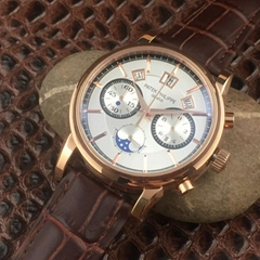 Patek Philippe Annual Calendar Chronograph Moon White Gold Watch Box/Papers