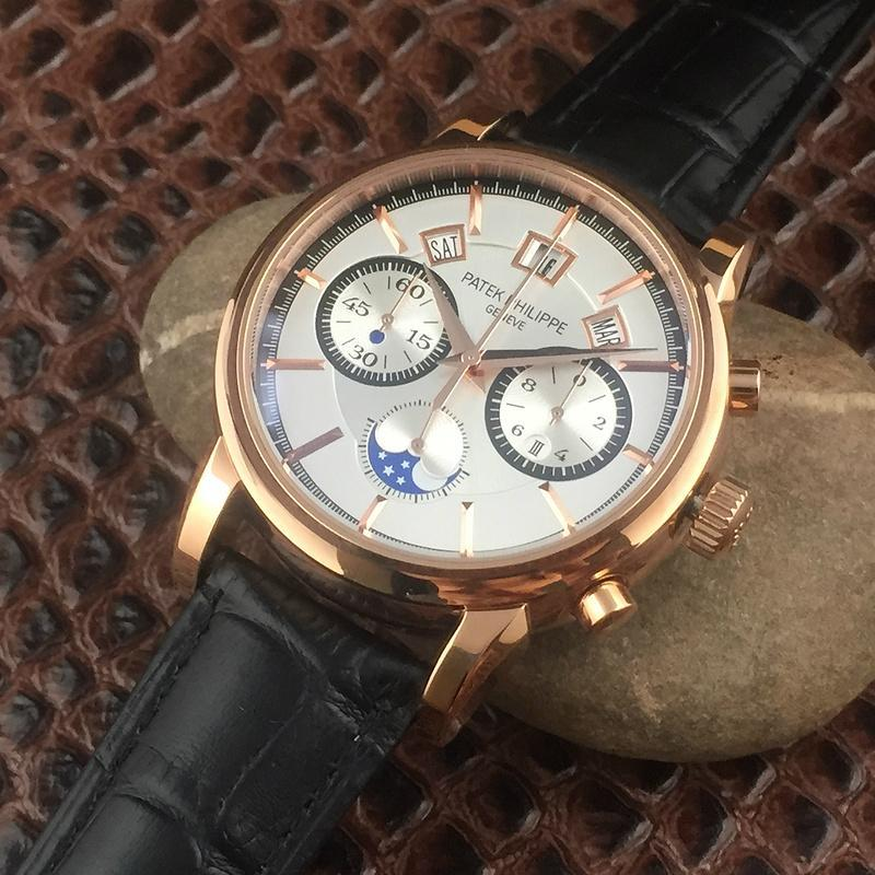 Patek Philippe Annual Calendar Chronograph Moon White Gold Watch Box/Papers  6