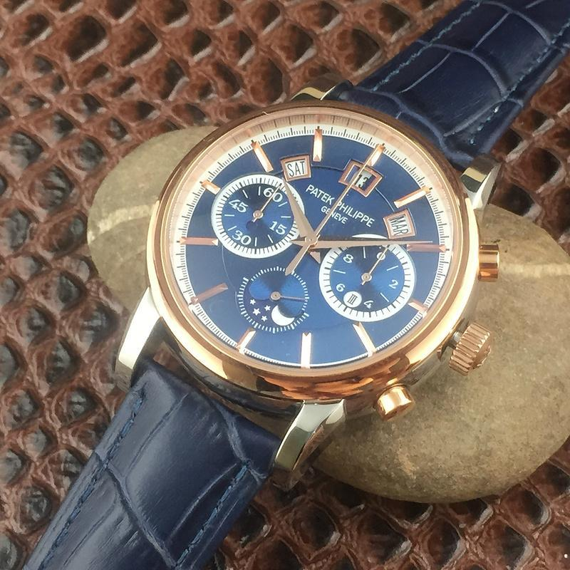 Patek Philippe Annual Calendar Chronograph Moon White Gold Watch Box/Papers  7