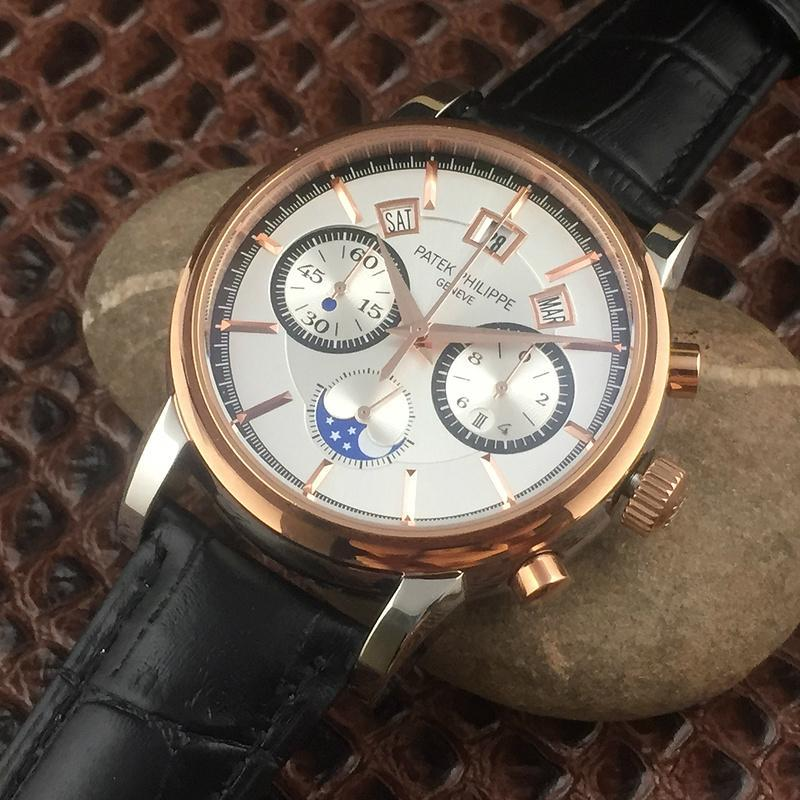 Patek Philippe Annual Calendar Chronograph Moon White Gold Watch Box/Papers  9