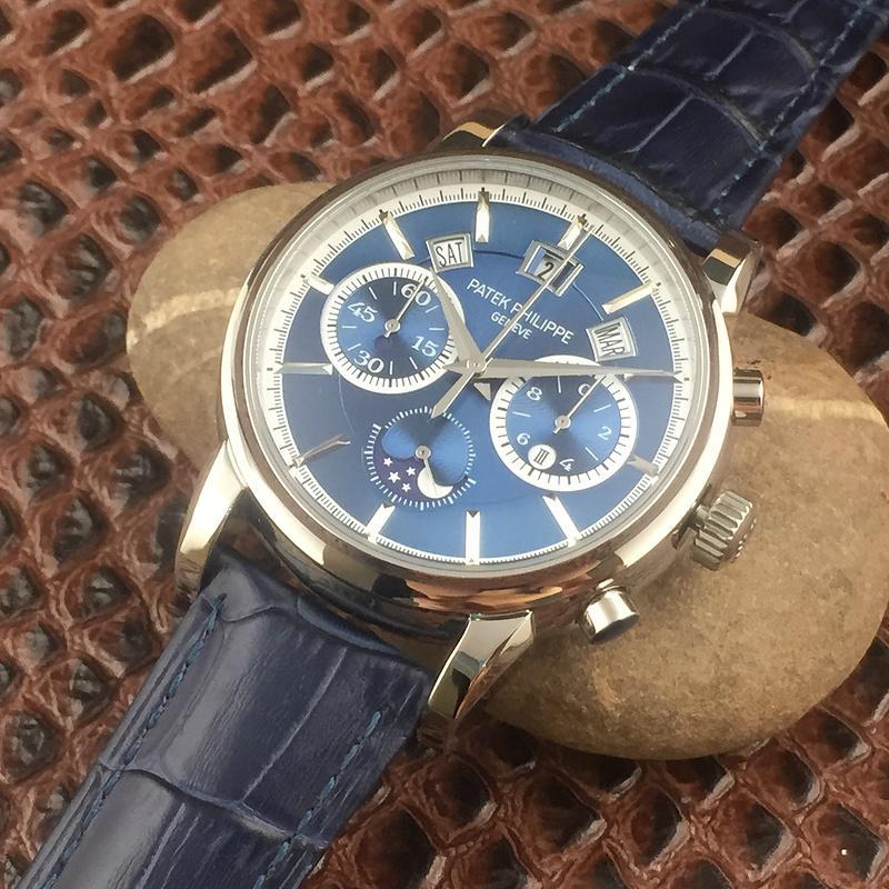 Patek Philippe Annual Calendar Chronograph Moon White Gold Watch Box/Papers  10