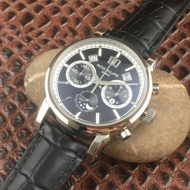 Patek Philippe Annual Calendar Chronograph Moon White Gold Watch Box/Papers  12