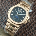PATEK PHILIPPE Nautilus Moon Phases Si  er Watch BOX & PAPERS 16