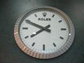 Fashion Rare Rolex Wall Clock Silver Cheap Rolex clocks sale