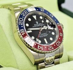 Rolex GMT Master II PEPSI 116719 BLRO Ceramic Bezel 18K White Gold Box Papers