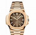 Patek Philippe Nautilus 18k Rose Gold Brown Dial Mens Watch Box/Papers 5711/1R 4