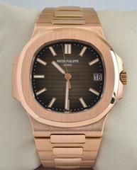 Patek Philippe Nautilus 18k Rose Gold Brown Dial Mens Watch Box/Papers 5711/1R