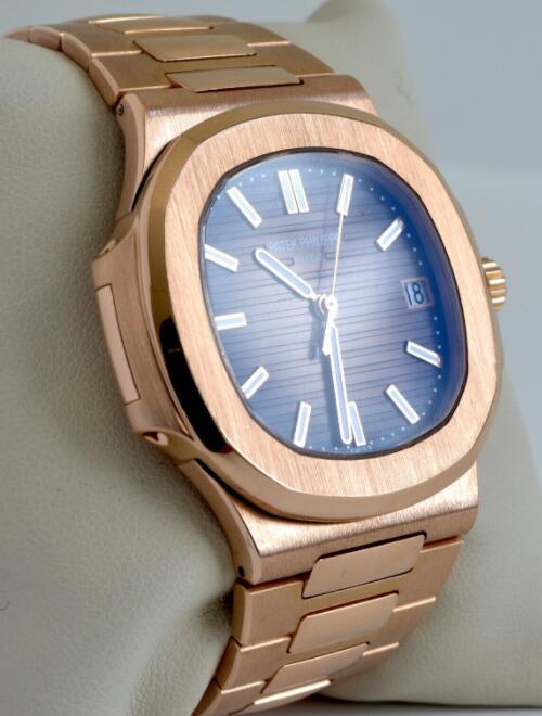 Patek Philippe Nautilus 18k Rose Gold Brown Dial Mens Watch Box/Papers 5711/1R 7