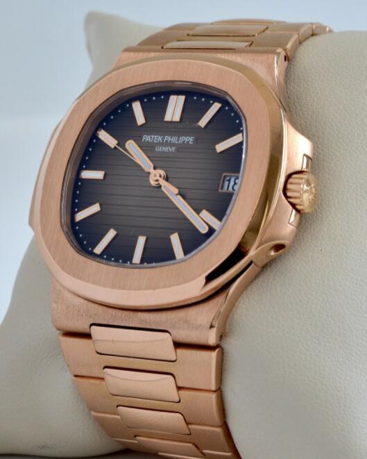 Patek Philippe Nautilus 18k Rose Gold Brown Dial Mens Watch Box/Papers 5711/1R 3