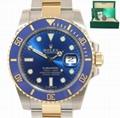 Rolex Submariner Blue Ceramic 116613LB Two Tone Gold Watch Box