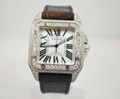 Cartier Santos 100 Diamond watches