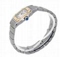 Cartier Women's W20012C4 Santos 18K Gold and Stainless Steel Watch Lady Quartz 3