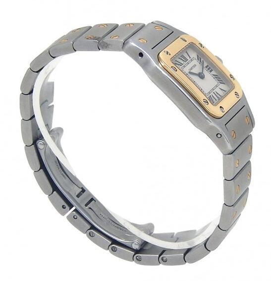 Cartier Women's W20012C4 Santos 18K Gold and Stainless Steel Watch Lady Quartz 4