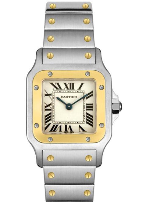 Cartier Women's W20012C4 Santos 18K Gold and Stainless Steel Watch Lady Quartz 1