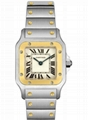 Cartier Women's W20012C4 Santos 18K Gold and Stainless Steel Watch Lady Quartz