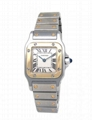 Cartier Women's W20012C4 Santos 18K Gold and Stainless Steel Watch Lady Quartz 2