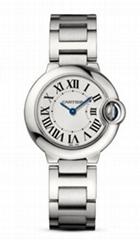Cartier Ballon Bleu 33mm 18k Yellow Gold & Steel Automatic Women's luxury Watch