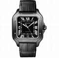 Cartier Santos de Cartier Large ADLC Black Dial & Strap Men's Automatic Watch
