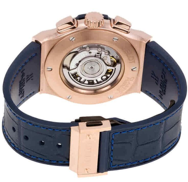 Hublot Classic Fusion Automatic Blue Sunray Dial 18kt King Gold Men's Watch
