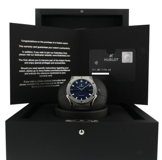 Hublot Classic Fusion Titanium Automatic 45 mm Blue Watch men luxury watch