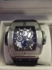 Spirit Of Big Bang Chronograph 42mm Mens Watch Luxury Moonphase Titanium