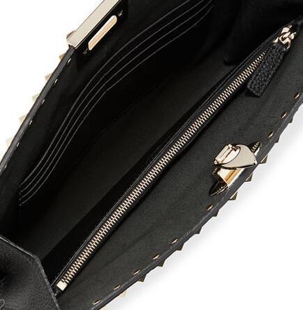 Valentino Garavani Rockstud Large Flip Lock Pouch Bag