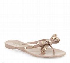 Garavani Rockstud PVC Flat Thong Sandals Rockstuds flip flop for women