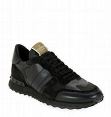 Garavani Men's Rockrunner Camo Trainer Sneakers men camouflage shoes