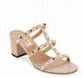 Valentino Garavani Rockstud Caged 60mm Slide Sandals Women block heel sandals