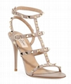 Valentino Garavani Rockstud 105mm Caged Leather Sandals