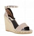 Valentino Garavani Rockstud Double Espadrille Wedge Sandal