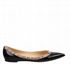 Garavani Rockstud Patent Ballet Flats Women flat shoes
