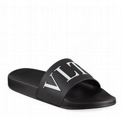 Garavani Men's Classic VLTN Logo Pool Slide Sandals