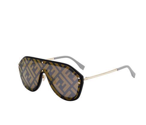 Fendi Men's FF Shield Sunglasses Fashion men eyewears