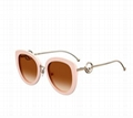 Fendi Round Acetate & Metal Sunglasses