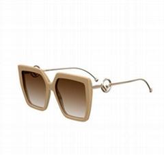 Square FF Pattern Acetate Sunglasses design eyewears