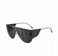 Fendi Men's FF Mirrored Metal Shield Sunglasses