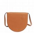 Loewe Heel Small Leather Crossbody Pouch Bag