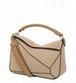 Loewe Puzzle calf Leather Satchel Bag Women top handle handbag with shoulder bag