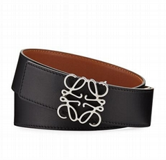 Reversible Anagram Buckle Belt Black Tan men dress belt