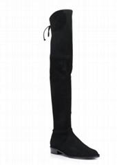Stuart Weitzman Lowland knee high leather boots Women suede flat boots