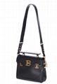 Balmain BBuzz 23 Calfskin Leather Shoulder Bag Balmain satchel bags black