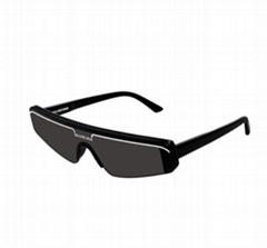 Men's Ski-Style Acetate Sunglasses men Slim Rectangle Shield Sunglass
