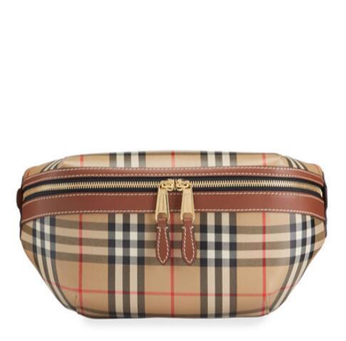 Burberry Men's Vintage Check Belt Bag cheap zip pocket waist bag