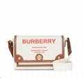 Burberry Note Canvas Logo Crossbody Bag