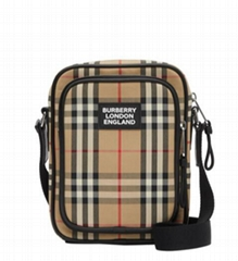 Men's Freddie Vintage Check Camera Bag men design bag